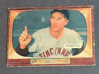 Birdie Tebbetts Cincinnati Reds 1955 Bowman #232 High Number VGEX