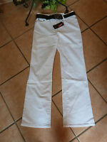MILLION X Linda Jeans Hose mit Gürtel Stretch 36 L30 NEU! weiß Baumwolle