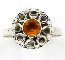 Golden Citrine 925 Solid Sterling Silver Ring Jewelry Sz 7