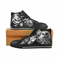 Nightmare Before Christmas Jack Skellington Men's Classic High Top Canvas Shoes