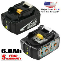 2Replacement for Makita BL1860B 18V LXT Lithium-Ion 6.0Ah Battery BL1850B BL1830