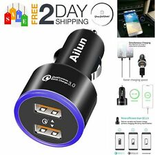 Fast Car Charger Dual 3.0 Ports Adapter For LG iPhone Samsung Quick Auto Charge
