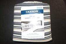 Cannon Flannel Sheet Set Aisle stripe pattern TWIN size NIP