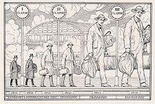 D2274 Numero dei viaggiatori prima e dopo la guerra - Stampa - 1923 old print