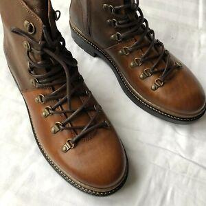 Tommy Hilfiger Herren Leder Boots Schuhe Stiefel Braun Gr.45 OVP