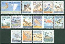 EDW1949SELL : TURKS & CAICOS 1995 Scott #1153-66A Birds Cplt set VF MNH Cat $66.