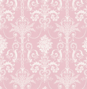 Dolls House Wallpaper 1/12th 1/24th scale Light Pink Quality Paper #280
