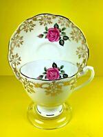 Roslyn Fine Bone China Teacup & Saucer Set