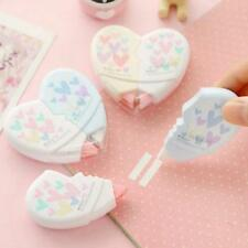 1 PC Cute Heart Shaped 10m White Correction Tape Office School Supplies HO3