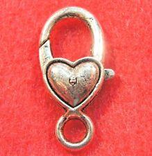 5Pcs. Tibetan Silver HEART Lobster Clasps 28 x 13mm  Hooks Jewelry Findings CL42
