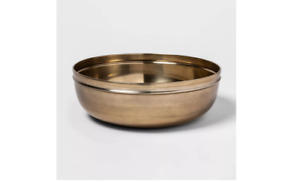 """12"""" x 4"""" Round Brass Gold Color Bowl - Threshold"""