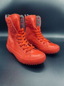 Converse Chuck Taylor Women's Hi-Rise Fashion Boot Size 6.5 Rubber Red 549592C