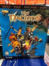 THE NATIONS: BUILD-RULE-DISCOVER-FIGHT 2001 PC CD-ROM FACTORY SEALED LARGE BOX