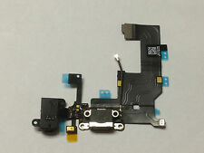 iPhone 5S Black Charging Port - Charger Flex USB Dock Replacement New