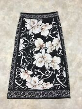 White House Black Market Women's Black/White Signature Knit Skirt Sz M
