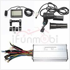 36V/48V 1200W 35A 12MOSFET Brushless DC Sine Wave Controller+LCD Panel+Throttle