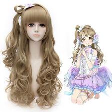 Anime Love Live! Kotori Minami 70CM Long Curly Light Brown Women Cosplay Wig