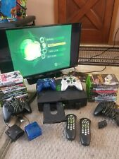 Xbox Original Microsoft Game Console Bundle 22 Games 4 Controllers Dvd Player