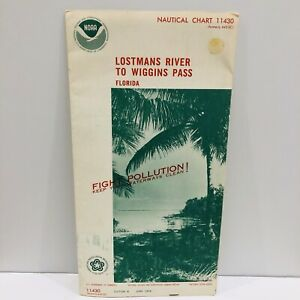1976 NOAA Sound Chart #11430 Florida Lostmans River To Wiggins Pass 8th Ed. (43)