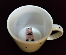Short Subjects Coffee Tea Mug Cup Big Eyed Pink Piggy Pig Inside Hidden Surprise