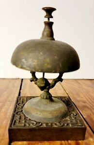 Authentic Victorian hotel bell. Acorn clapper