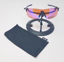 Oakley EVZero Pitch Sunglasses Polished Black | Prizm Trail Lens OO9383-0438