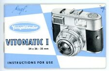 VOIGTLÄNDER Kamera Bedienungsanleitung VITOMATIC I User Manual IN ENGLISH (Y170