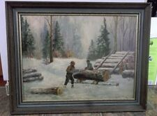 Signed Joseph Bernard Canadian Quebec Oil Painting on Panel
