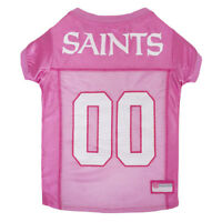 New Orleans Saints NFL Officially Licensed Pets First Dog Pet Pink Jersey XS-L