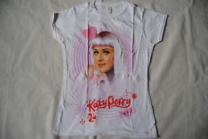 KATY PERRY CANDY SWIRL LADIES SKINNY T SHIRT NEW OFFICIAL CALIFORNIA GURLS