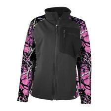 Muddy Girl Camo Full Zipper Jacket/Coat | Ladies | Choose Black w/ Pink or Teal
