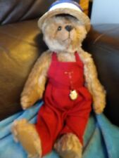 """BNWT HANDMADE LOU LOU COLLECTORS BEAR FULLY JOINTED MOHAIR ALFRED 13"""" LTD 1/3"""