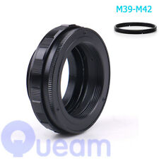 M39 to M42 Focusing Helicoid Ring Adapter 12 - 19mm Macro Extension Tube 12-19mm