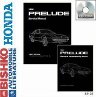 OEM Digital Repair Maintenance Shop Manual CD for Honda Prelude w/Etm 1991