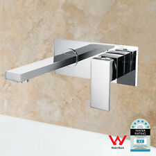 Wall Mounted Basin Mixer Bathroom Vanity Tap Brass Chrome Bath Spout Outlet WELS