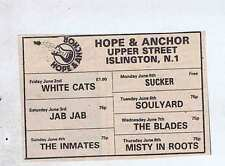 INMATES / MISTY IN ROOTS - HOPE & ANCHOR PRESS CLIPPING 9X6cm 1978 (3/6/1978)
