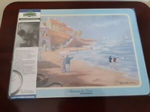 Set of 4 Large Placemats By Bernard Mcmullen ~ New Unopened