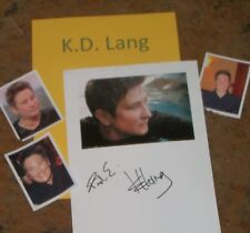 KD LANG Autographed Photo & Photos Collectible
