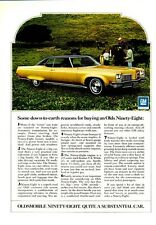 1972 Oldsmobile  PRINT AD Olds 98 Ninety-Eight 2-Door on Ranch Detailed Photo ad