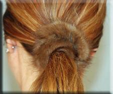 New Light Brown Mink Fur Scrunchy - Efurs4less