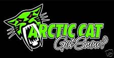 Arctic Cat Banner Sign Flag #2, 2' x 4' Snowmobile Snow Cat High Quality!