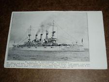 DC: Vintage Postcard - Battleship Louisiana, Unused