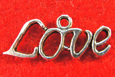 "10Pcs. Tibetan Silver ""LOVE"" Word  Charms Pendants Earring Drops Finding WS27"