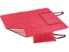 PEARL 3in1-Picknickdecke mit Sitzkissen und Zudecke, waschbar, 180 x 150 cm