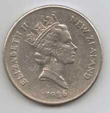 Nueva Zelanda - 20 Centavos-Cobre-Níquel Elizabeth II 1986 – 11.31 G – Ø 28.58 mm
