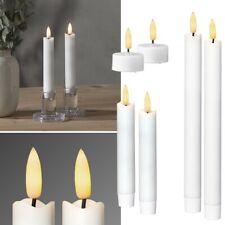 Fantasy Gothic Kunstkerzen Deko Beige 3er Set LED Kerzen
