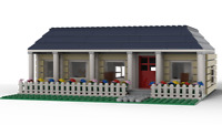 LEGO Suburban House With Interior INSTRUCTIONS PDF ONLY (NO PARTS!)