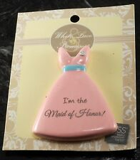 I'M THE MAID OF HONOR PIN BY RUSS  BRIDAL PIN NEW ON CARD #38494
