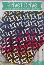 Privet Drive - foundation paper pieced quilt PATTERN - 3 sizes - Sassafras