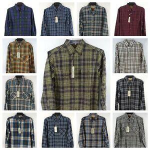 Outdoor Life Mens Flannel Shirt Medium Button Down Western Chest Pockets